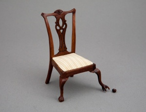 The chair evokes an emotional response in us even though we know perfectly that it doesn't have a mind, emotions or beliefs. However it is clearly sneeking out its foot, hoping nobody will notice (Donald Norman: Emotional Design)